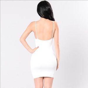White sexy dress .